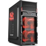 Carcasa Sharkoon VG5-W RED (Negru-Rosu)
