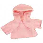 "Pink Fleece Hoodie Fits Most 14"" - 18"" Build-a-bear, Vermont Teddy Bears, and Make Your Own Stuffed"