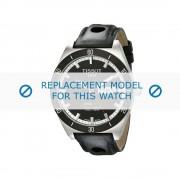 Tissot (vervangend model) horlogeband Analog - T044.430.26.051.00 Leder Zwart 20mm