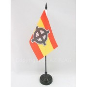 Drapeau De Table Espagne Croix Celtique 15x10cm - Petit Drapeaux De Bureau Nationaliste Espagnol 10 X 15 Cm