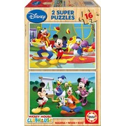 Educa - 14181 - Puzzle Bois Wd 2X16 Mickey Mouse Club House