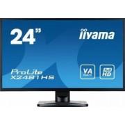 Monitor LED 23.6 Iiyama Prolite X2481HS-B1 Full HD 6ms Negru