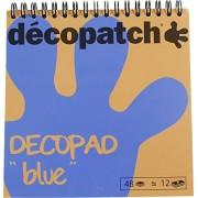 Decopatch - BLOC04O - Feuilles - Modèle aléatoire - Bloc Couleur Decopad - Bleu