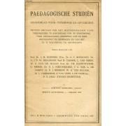 Paedagogische Studiën, Achtste Jaarg., Eerste Aflevering, Maart 1927, Maandblad Voor Onderwijs En Opvoeding (Inhoud: W. H. Ten Seldam, De Onderwijzer En De Studie Der Psychologie. C. ...