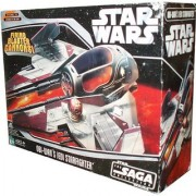 Hasbro Year 2006 Star Wars The Saga Collection Episode III Revenge of the Sith Vehicle Set - Obi-Wan Kenobi's Jedi Starfighter with Opening Canopy Firing Blaster Cannon Wings that Spring Open and Retractable Landing Gear