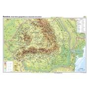 România. Harta fizico-geografică şi a resurselor naturale de subsol 100x70 cm