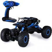 Megadream Rechargeable 2.4Ghz RC Wireless Remote Control Off-Road 4WD 1:18 Racing Vehicle Toy Truck Race Car Truggy Buggy Rock Climbing Crawler