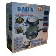 Tigaie speciala pentru gatit dualetta contine sistem doua tigai