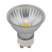 LED-GU10-4W COB melegfehér spot üveg izzó