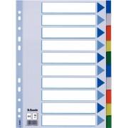 Separatoare plastic A4 10 culori Esselte