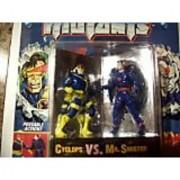 3 Die Cast Metal Cyclops VS. Mr. Sinister Action Figures - Marvel Comics X-Men Steel Mutants with Mutant Collectors Sta