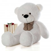 Super Giant 7 Feet White Bow Teddy Bear Soft Toy