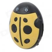 HYTJK007 Estilo Escarabajo TF MP3 lindo reproductor de musica - Amarillo + Negro (16 GB max.)