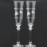 Pahare de cristal gravate