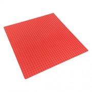 Katara - Base di Costruzione Compatibile con Classic Lego/ Q-Briques/ Asmodee/ Sluban, Piattaforma di Costruzione per Giochi con Mattoncini, per Giochi Creativi e Divertenti, Dimensioni 25,5 x 25,5 x 1 cm, rosso