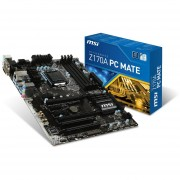 MSI Z170A PC MATE ATX DDR4 3000 (o.c.) NA Motherboards Z170A PC MATE