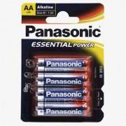 Blister de 4 pilas Alcalinas Panasonic AA LR6
