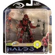 Halo 3 McFarlane Toys Series 5 (2009 Wave 2) Exclusive Action Figure Crimson Spartan Soldier Scout