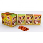 Pedigree Dog Treats - Meat Jerky Stix 720gm(60gm X 12 packs) - Assorted Combo Pack of 12 - Bacon + Liver + Salmon