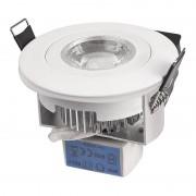 Designlight downlight LED 3W vit DB-220SW 216lm 3000K 230V IP44
