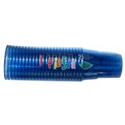 Set 25 pahare PET 250 cc din plastic ARISTEA albastru