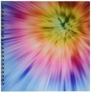 3dRose db_49035_2 Colorful Starburst Tie Dye Vibrant Colors Burst Out of This Attractive Tie Dye Design Memory Book 12 by 12