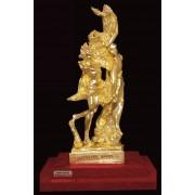 """Ръчно изработена статуетка с 22 карата златно покритие """"Аполон и Дафни"""" (A056)"""