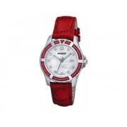 Reloj Wenger Sport Elegence dial nacar correa piel roja