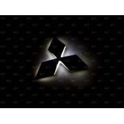 Эмблема со светодиодной подсветкой Mitsubishi белого цвета «95x82»