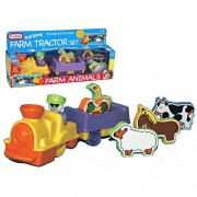 Funtime Pull Along Farm Tractor and Animal Set Baby Toy 24 months+