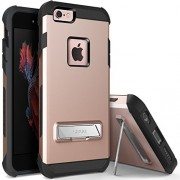 iPhone 6S Plus Case, OBLIQ [Skyline Advance][Rose Gold] with Metal Kickstand Dual Layered Metallic Heavy Duty Hard Protection Hybrid High Quality Case for iPhone 6S Plus (2015) & iPhone 6 Plus (2014)