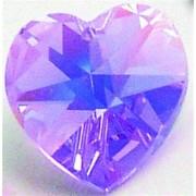 Regnbågsvävar Hjärta 18 mm AB violett