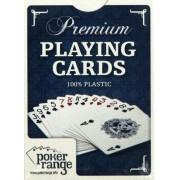Karty pokerowe Premium czerwone 100% plastik