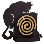 Porta zampirone gatto parete nero