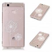 Funda de TPU Silicona la Diente de león para Huawei Ascend P9 Lite 5,2 Pulgadas Teléfono Móvil Blanco
