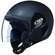 Studds Cub Open Face Helmet (Matt Black L)