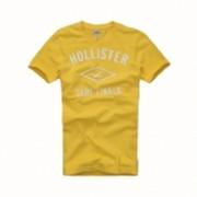 Camiseta Masculina Hollister Amarela