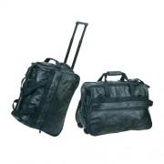 DBE Wheeled Leather Travel Bag DBE7123