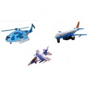 Centy Pack Of 3 Jet 747 F16 Fire Blade Rescue Helicopter