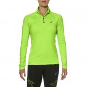 asics LS 1/2 Zip Koszulka do biegania zielony Koszulki do biegania długi rękaw