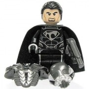 LEGO Man of Steel Superman Theme - Zod Minifigure (2013 Version) with Dual-sided Head Gun and Battle Armor with Helmet