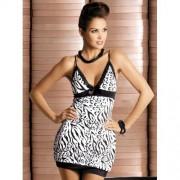 Camisa de Noite & Tanga Zebra