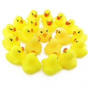 20pcs/Set Opcc Mini Yellow Rubber Bath Ducks For Child ,Rubber Duck Bath Toy Baby Shower Birthday Party Favors