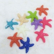 Lot Bling 10 Starfish Sea Star Aquarium Terrariums Miniature Garden Fairy Gardens Doll House Cake To
