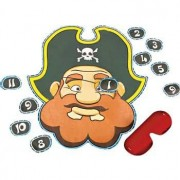 Pirate Party Game-Pin the Eye Patch on the Pirate-Great for Halloween
