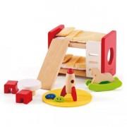 Jucarie eco din lemn Mobilier Camera Copiilor pentru casa papusilor Hape