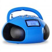 Mini rádió oneConcept Bamboombox, SD, USB, bluetooth, kék (CS3-BAMBOOMBOX)