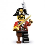 Lego Minifigures Series 8 - Pirate Captain - Opened Pack