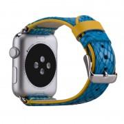 Correia em Pele Momax para Apple Watch - 42mm - Azul