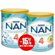 Pachet lapte praf Nestle Nan4 2*400g 15% reducere la al doilea produs